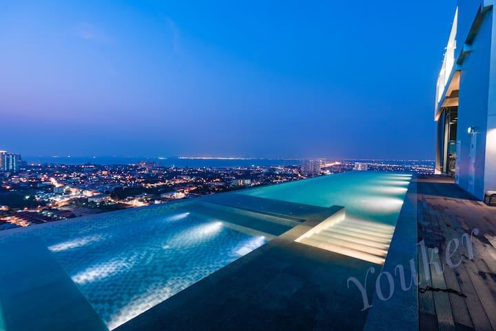 Pattaya Posh#35楼无边泳池#芭提雅网红楼盘#舒适开间#高层