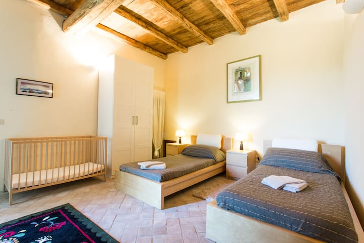 Twin-bedded room on lower floor