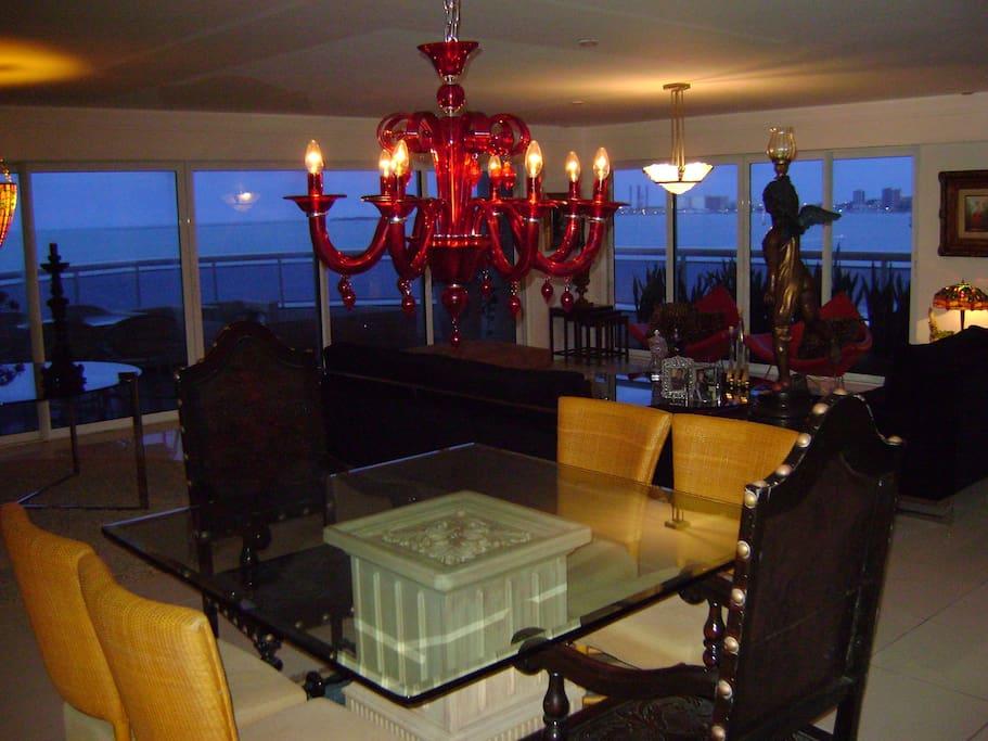 Vista da sala de jantar