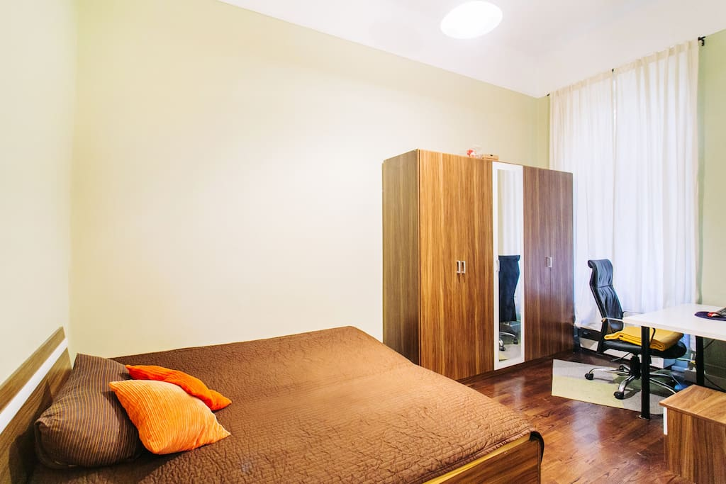 The bedroom has a large double bed, with a special formulated, premium quality mattress.