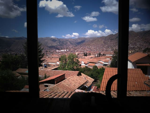 Super View Cusco Center Private Room Double bed