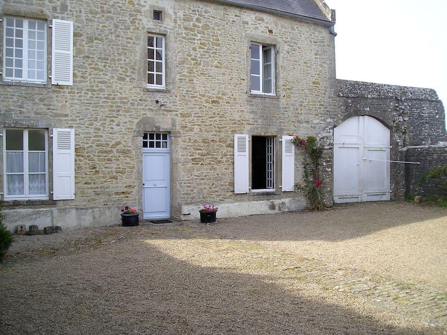 Front door in courtyard