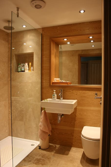 Your private en-suite walk in shower/bathroom