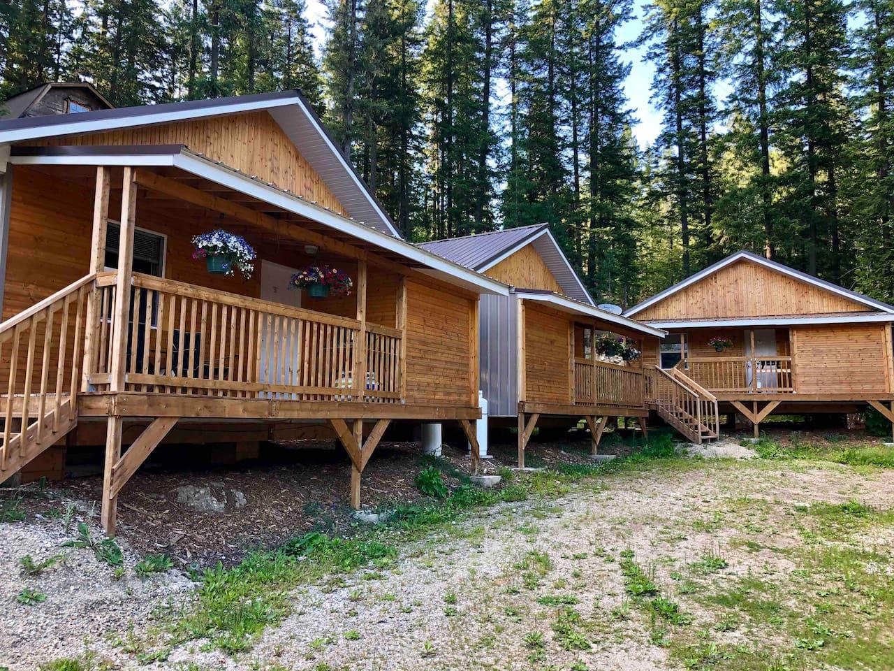 All three cabins.