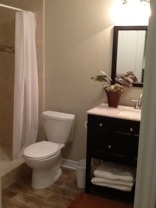 Private bathroom with 2 person shower
