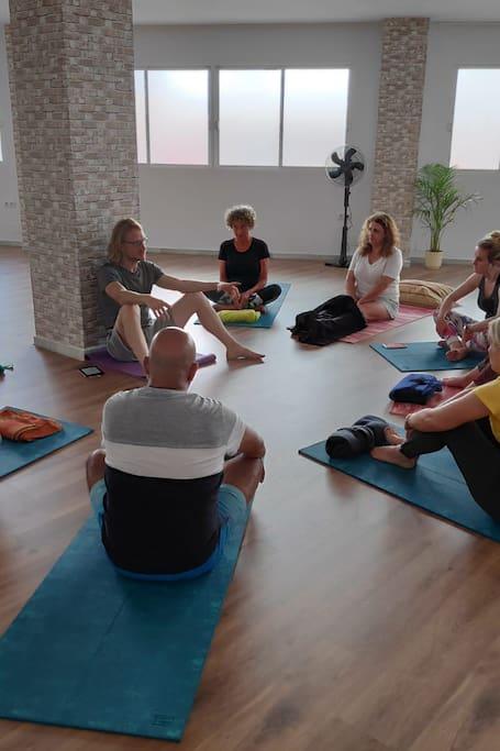 Beautiful dedicated yoga studio