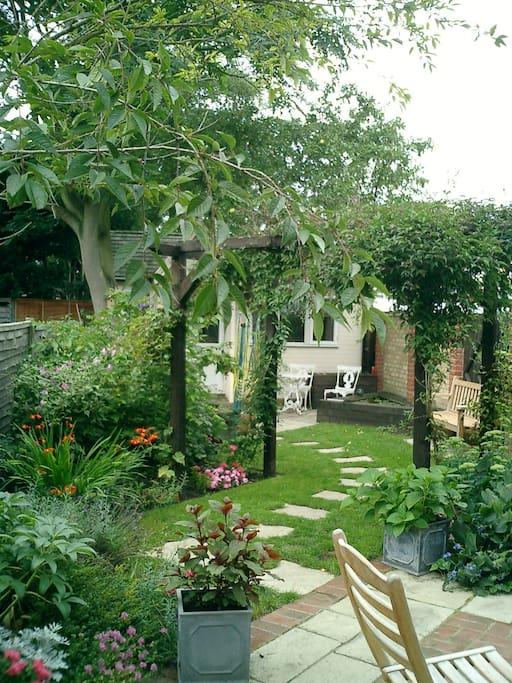 Lovely garden for relaxing