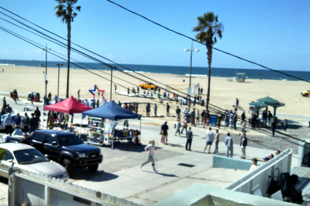Ocean view from balcony. TV show NCIS LA filming a scene in front of our house April 2014.