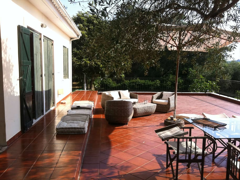 A luxurious and spacious terrace for family precious moments.