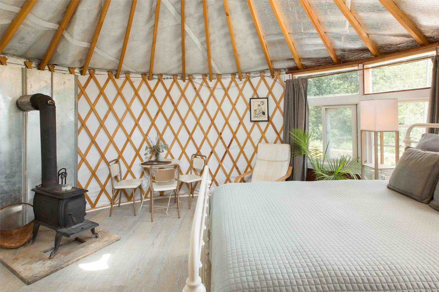 Unique yurt Airbnb in Asheville