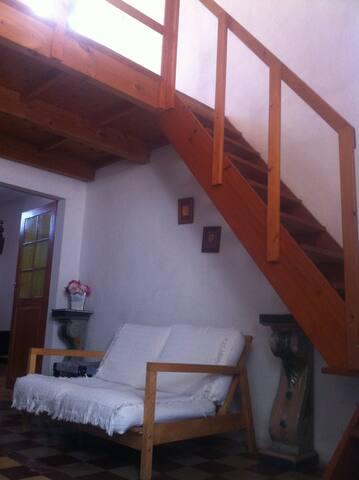 stairs to terrace and mezzanino