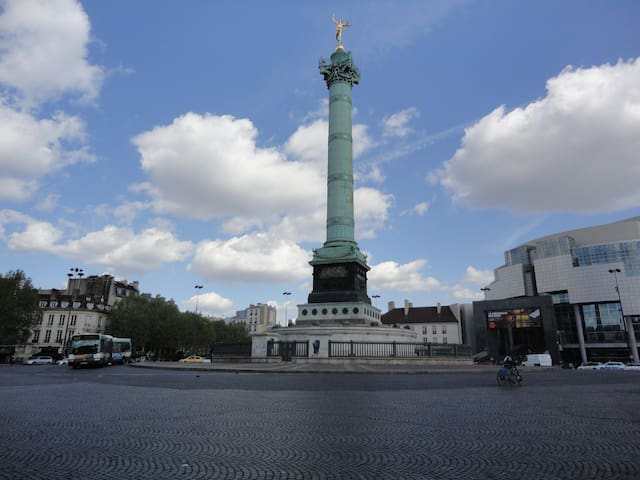 Bastille, such a historic square of Paris