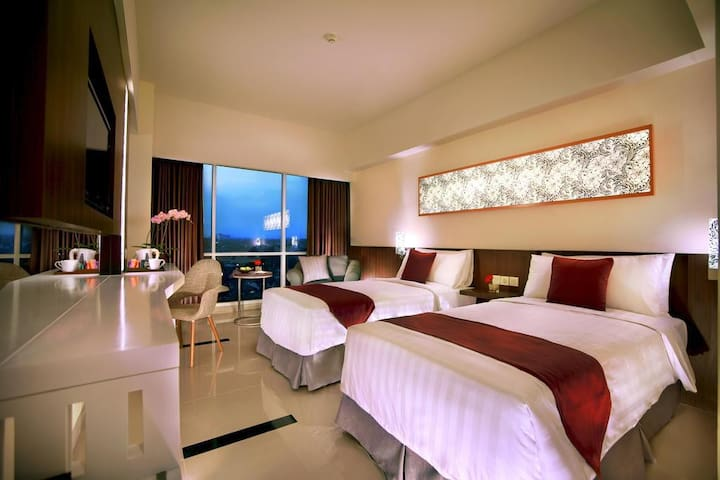 Deluxe twin Adjacent to Mal Olympic Garden Malang