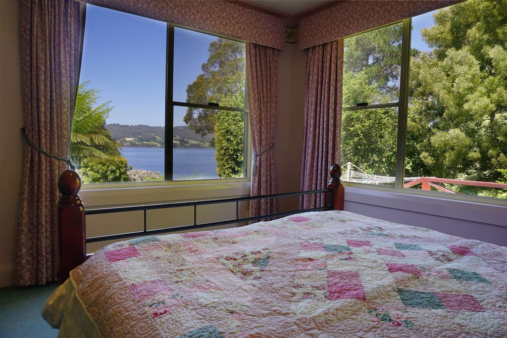 Stunning views from master bedroom and private balcony.
