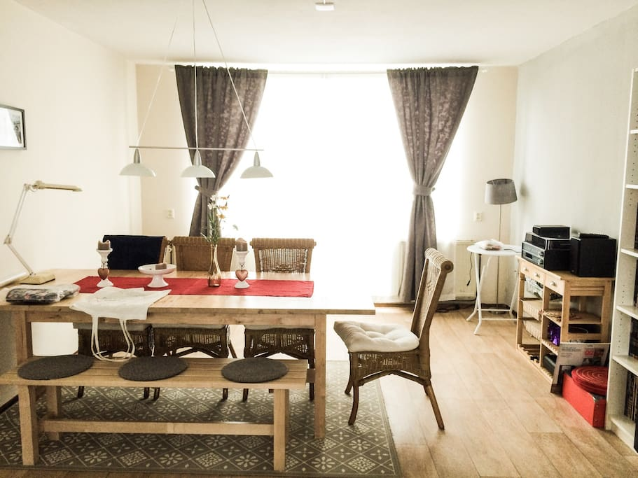 Our lovely living room - dining area :)