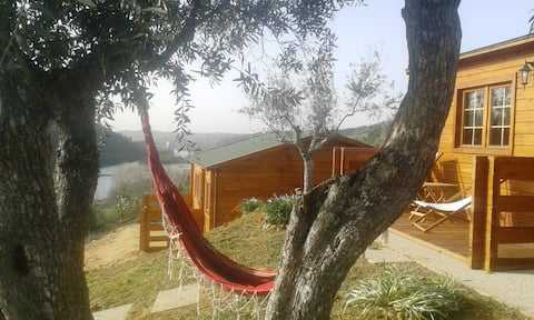 Tagus Hills 2, wooden house and river beach