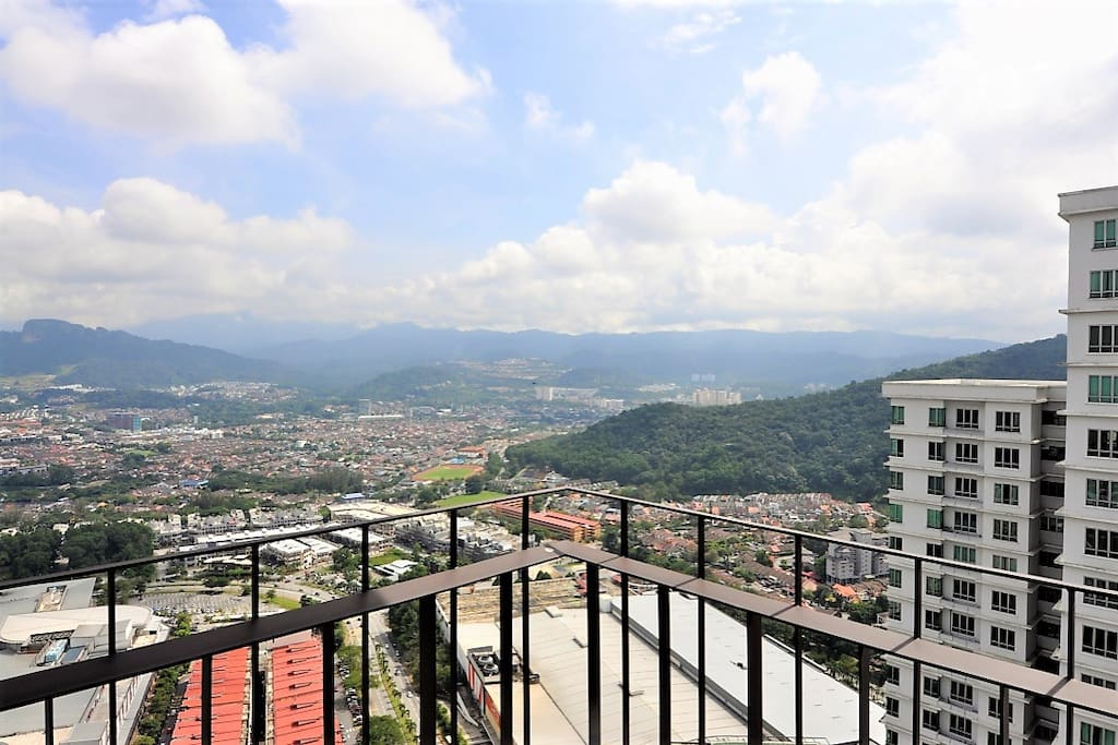 View of Wangsa Maju City from balcony