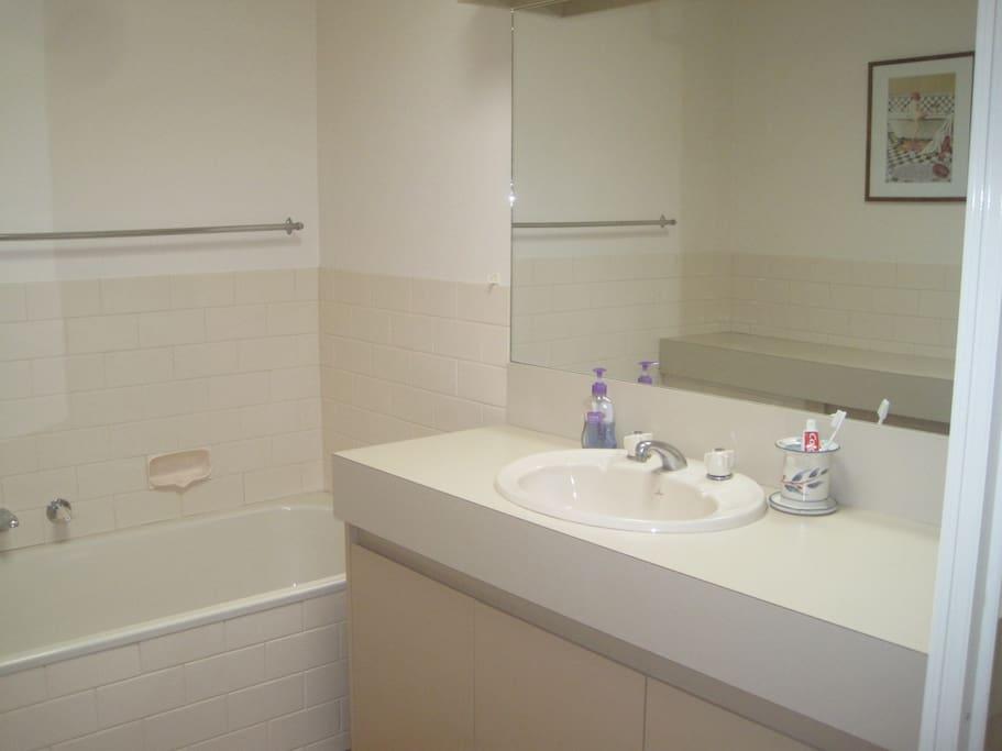 Separate bath & shower