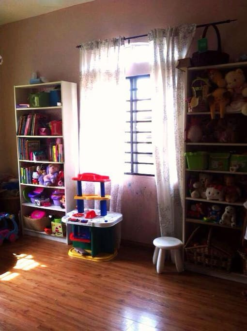 The kids playroom full with toys