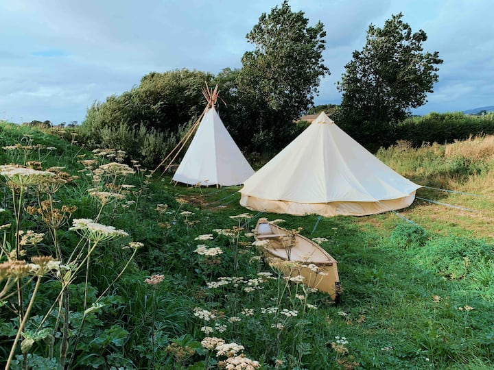 Glamping | Luxury Bell Tent in Private Woodland
