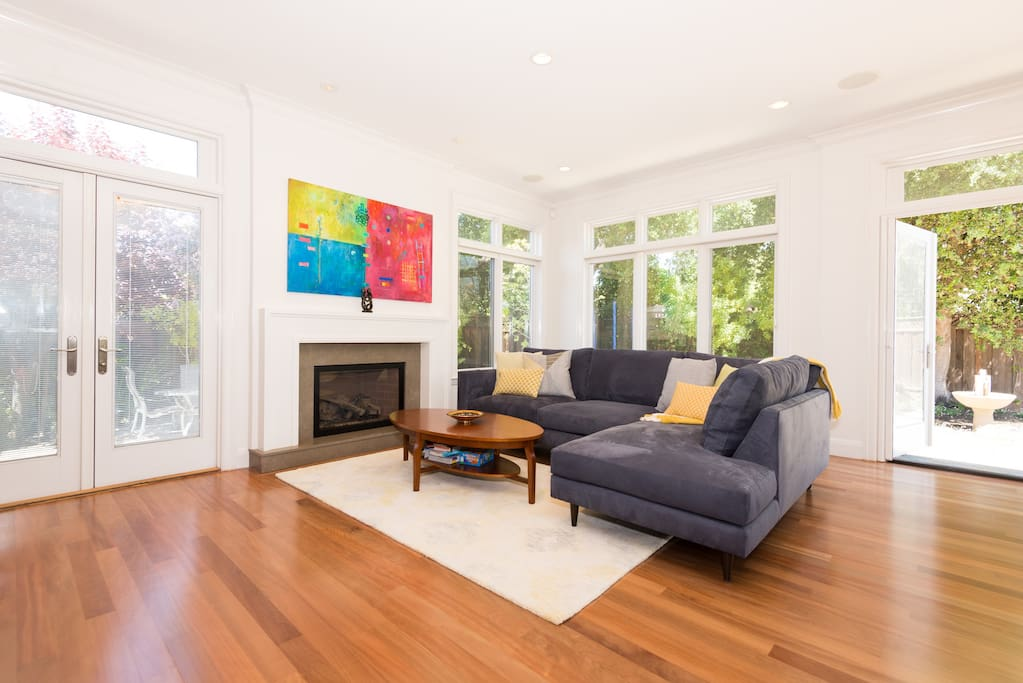 Family room opens to backyard and side yard