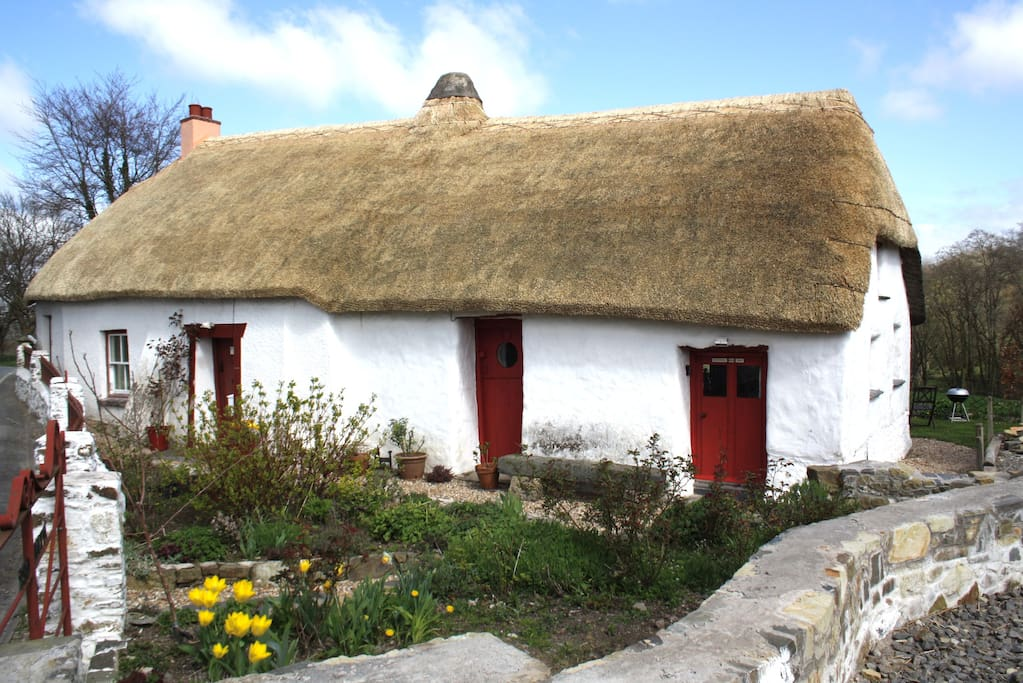 Traditional cob and thatch cottage