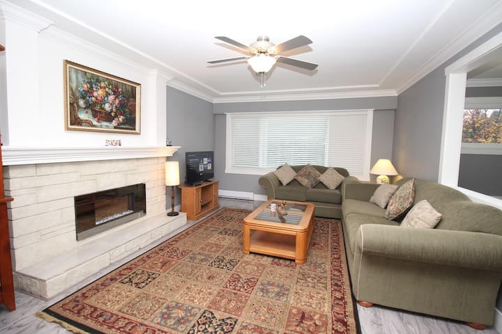 The warm and welcoming living room