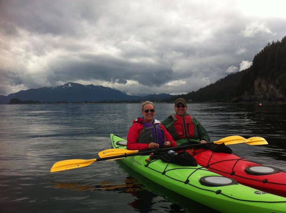 Enjoy our kayaks, included with your stay!