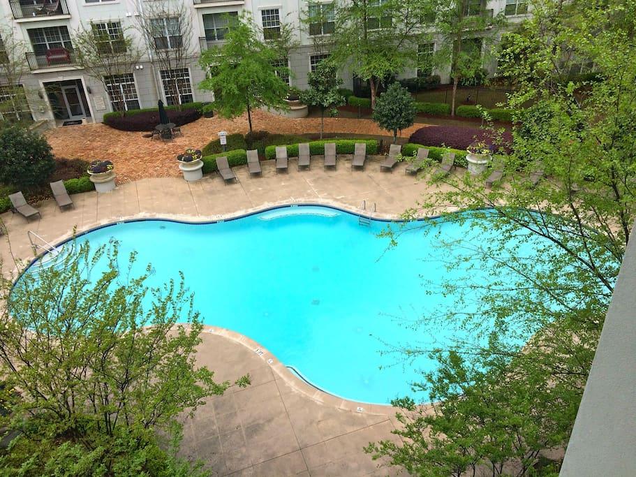 Resort style swimming pool.