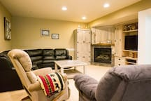 Basement family room for guests