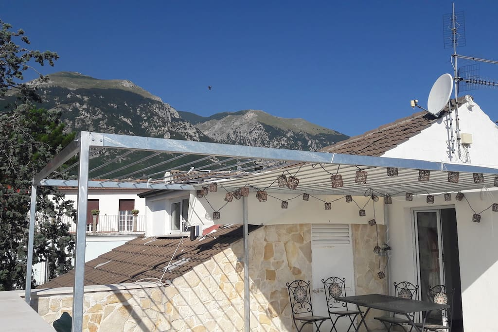 Part of view - mountains facing west, from the terrasse