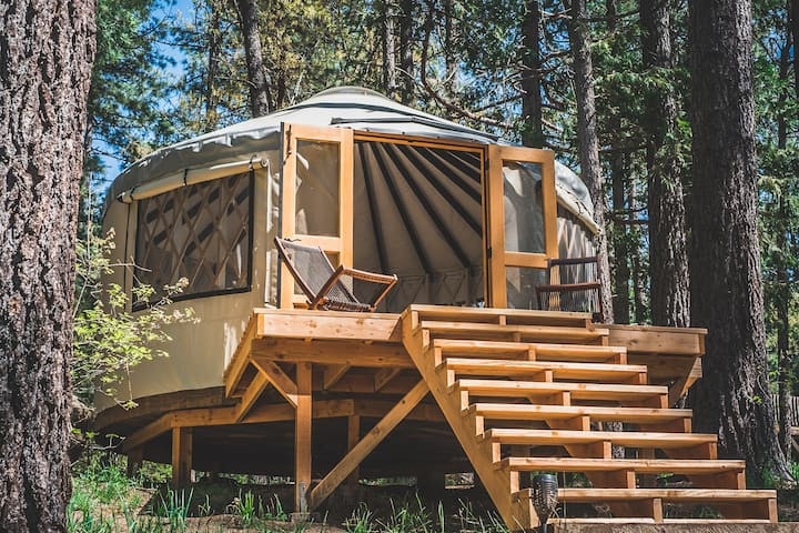 "Creekside Eco-Luxe ""Be Well"" Yurt ⛰🌲🧘"