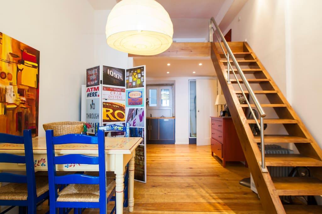 Dining room and mezzanine