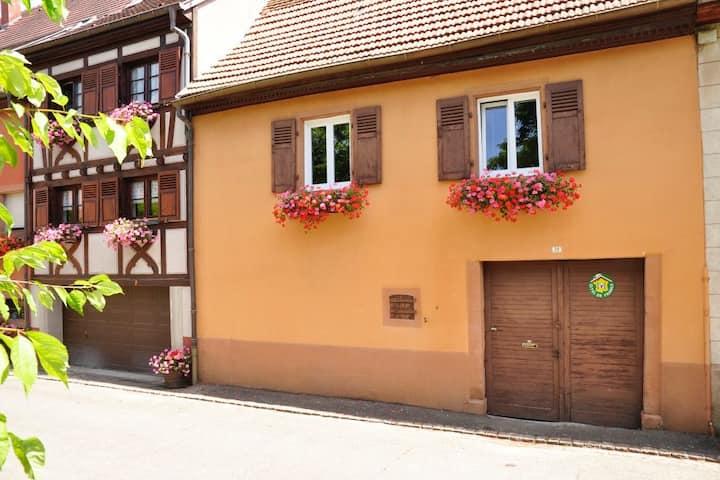 Maison typique alsacienne au coeur du village