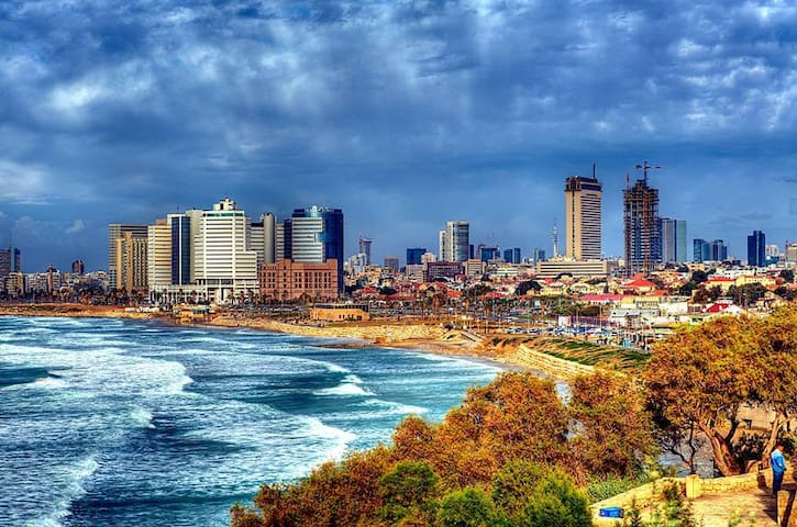 A view from Old Jaffa to Tel Aviv