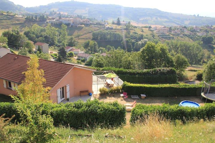 Gde maison contemporaine/30min Lyon - Saint-Pierre-la-Palud - Casa