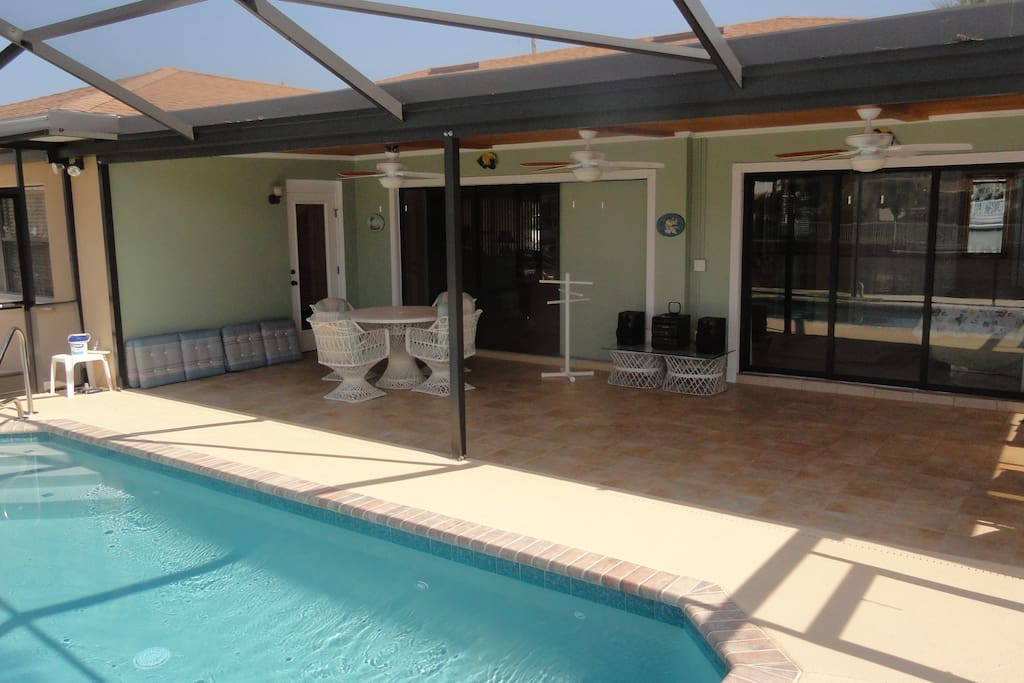 The pool area has a 13'x 33' porch!!!
