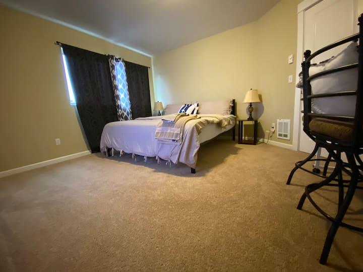 Huge Master Bedroom, King Bed, & Attached Bathroom