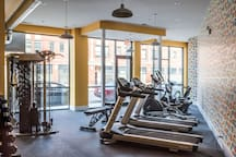 Fitness center, off lobby!