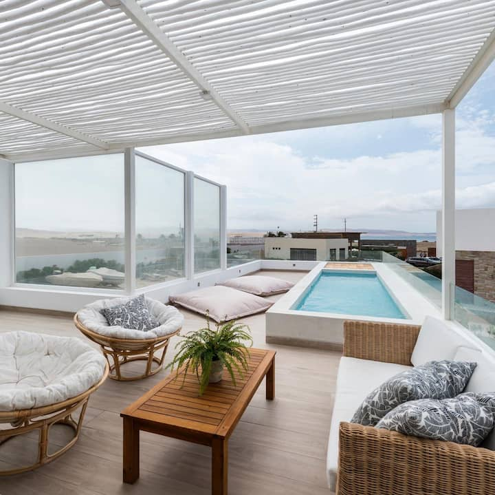 Casa Belianara con Piscina Privada, Paracas