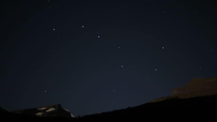 Big Dipper Stars in Northern Sky