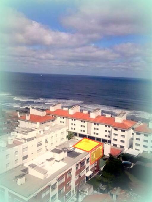 Vista aerea del apartamento.