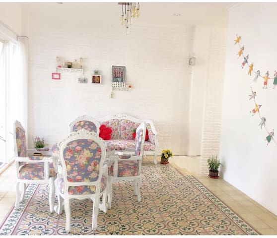 Welcome to our house, this front room will welcome you and your family to make your holiday living keep fun, happy, and rest well