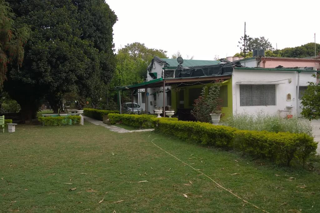 View of Hosts house and lawn