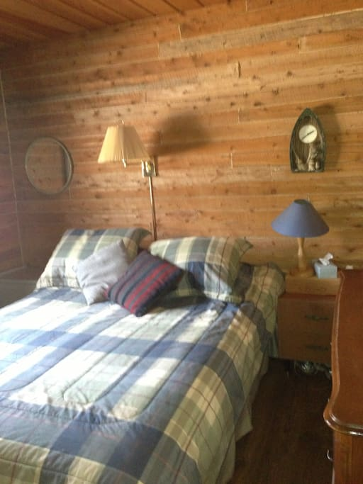 Bedroom number 1.  Queen-sized bed.