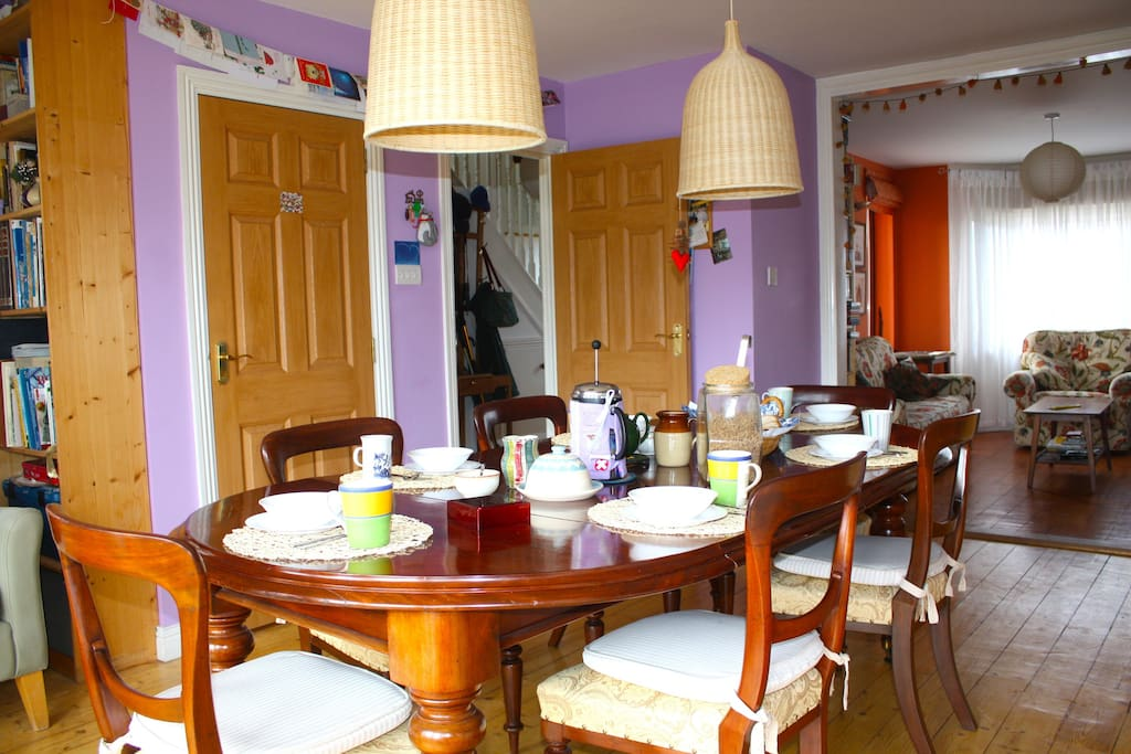 Breakfast in our kitchen