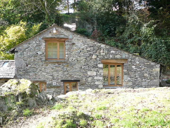 Broughton Bank Cottage in woodland