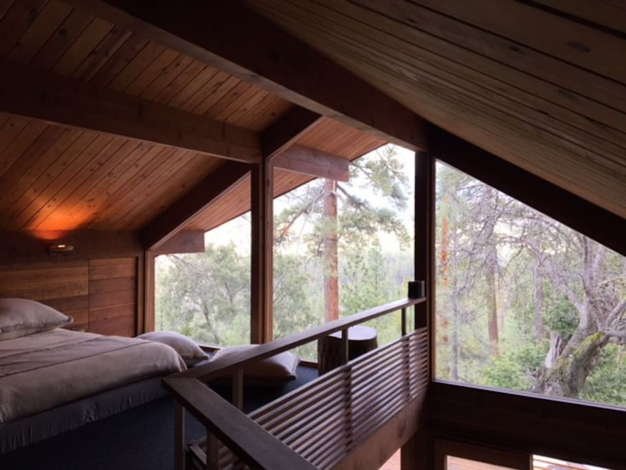 Master Bedroom w/ magical, mountainside view (no homes in sight)