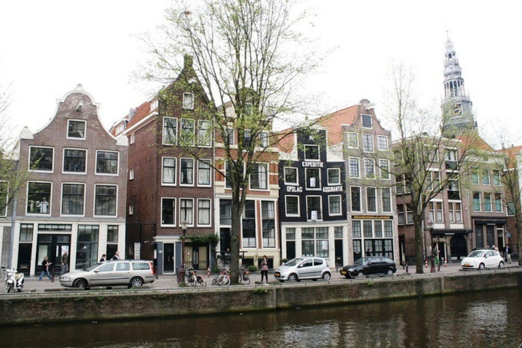 This where we are, in the middle of old Amsterdam