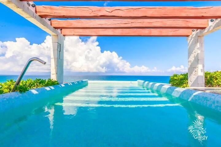 Fabulosa vista,condominio equipado en Isla Mujeres